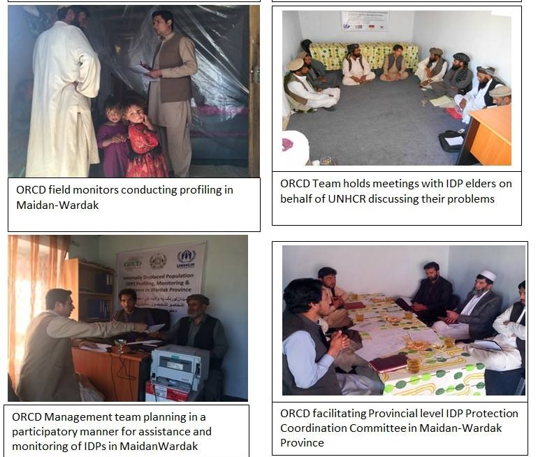 ORCD Monitors with IDPs in Maidan Wardak